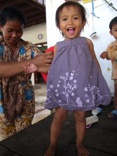 donating clothes to the Smile Children
